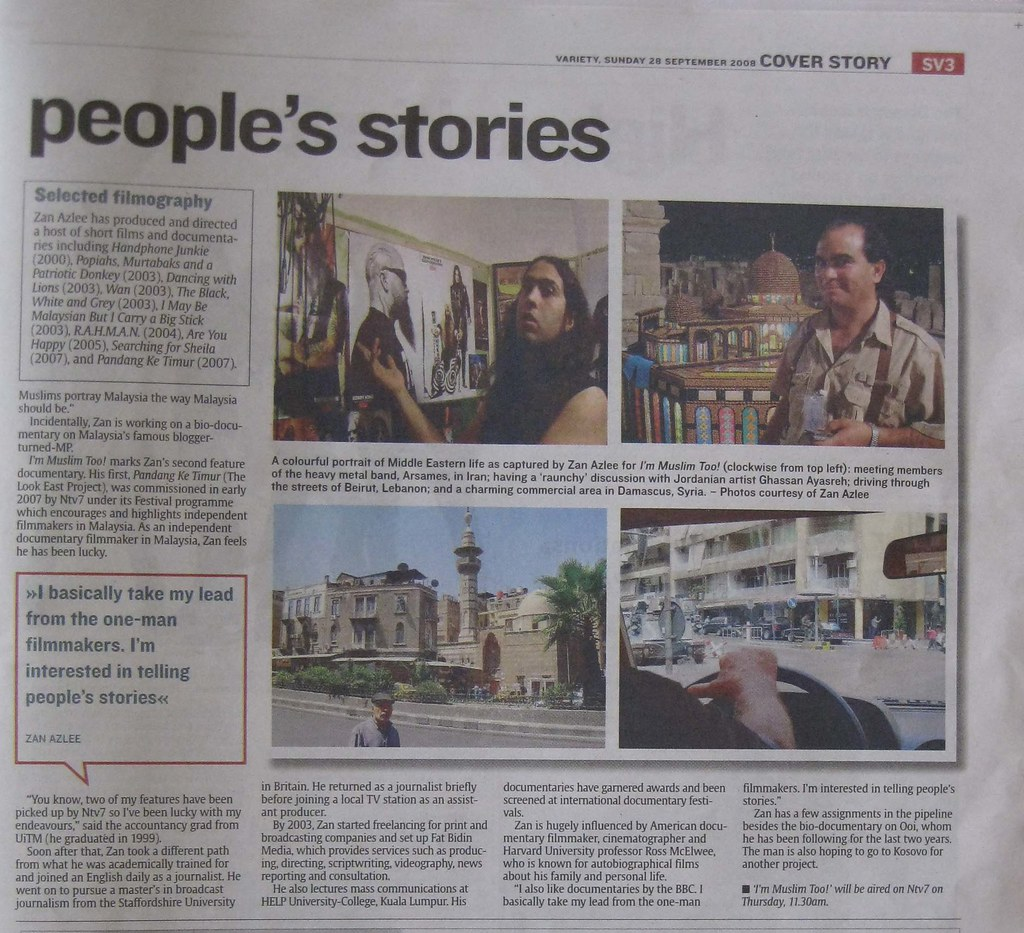 Im Muslim Too! in The Star - page 3 (28 Sept 08)