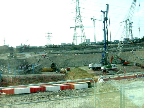 Site of Aquatic Centre, London 2012 Olympic site