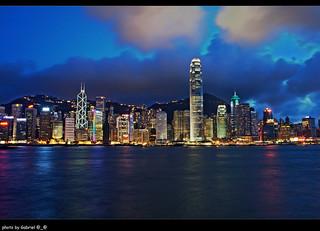 HDR - Hong Kong - Victoria Harbour (Night);  香港 - 維多利亞港 (夜景)