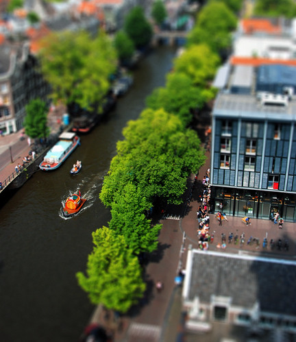 tilt-shift Amsterdam