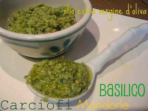 Pesto di carciofi e basilico