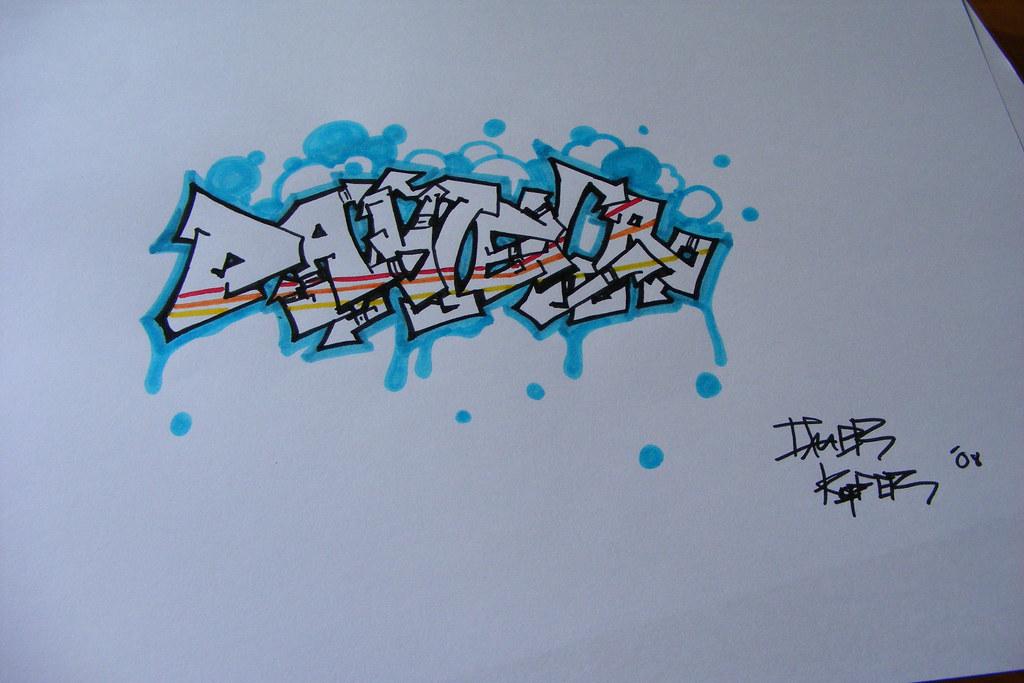 The Name Daniela In Graffiti