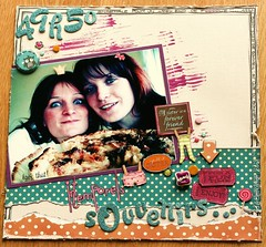 intemporels souvenirs avec ma soeur dc 04 (bibine 75) Tags: friends colors cake sisters scrapbooking fun souvenirs handmade fimo page scrap poeple gateau soeurs octoberafternoon