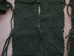 Man's Sweater Front Panel close-up