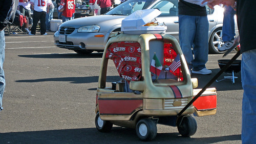 49er Game- Stereo and Cooler