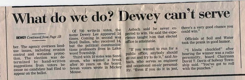 """What do we do?  Dewey can't serve."""