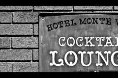 Monte V (atschussman) Tags: blackandwhite bw usa signs brick texture downtown az flagstaff letterbox lightroom hotelmontevista adobelightroom da70mm