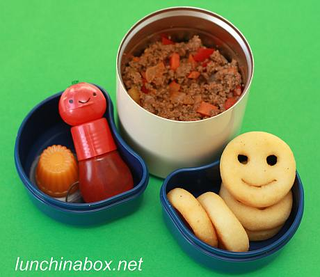 Sloppy Joe filling bento lunch for preschooler