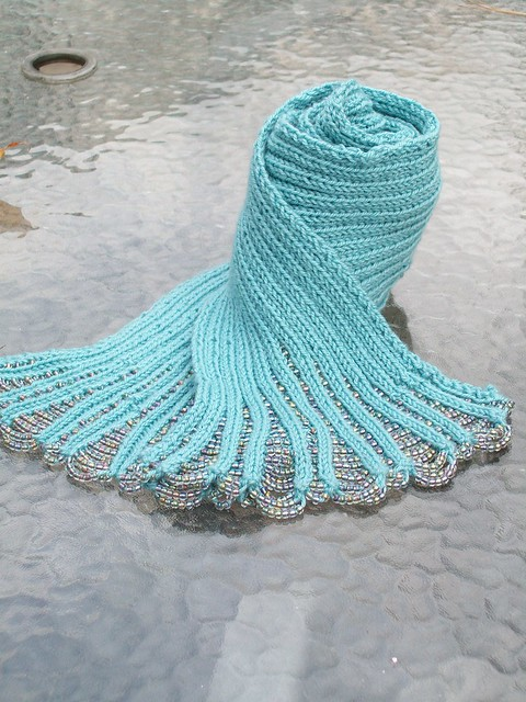 Ravelry Waterfall Beaded Scarf Pattern By Jane Davis