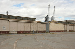 Shed 13 (Mangrove Rat) Tags: port shed cranes wharf rails adelaide southaustralia innerharbor portadelaide portriver heritageatrisk