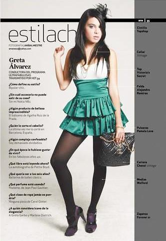Greta Alvarez. Revista Eme