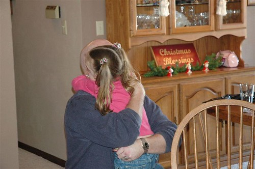 Cass hugging her Uncle Brent