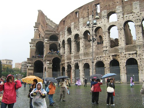 People at the Colosseum