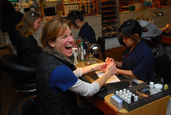 the ticklish bride (blimppilot2000) Tags: wedding philadelphia bride manicure laughs ticklish timandjulieswedding october182008