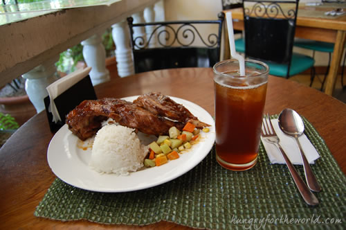 Casa Verde, Cebu: Baby Back Ribs and Iced Tea