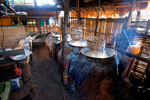 A typical 'salt hut', Ban Bo Klua, Nan