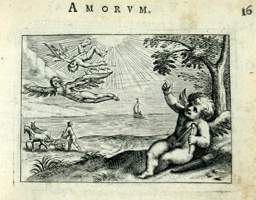 007 Medio tutissimus ibis- Cupido señalando el vuelo y la caída de Ícaro.