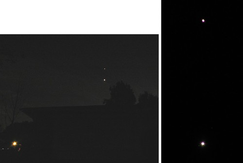 Jupiter and Venus, 28 Nov. 2008