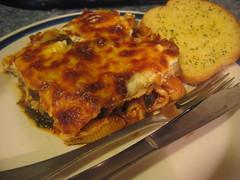 Eggplant Pasta Bake w/ Spinach & Ricotta