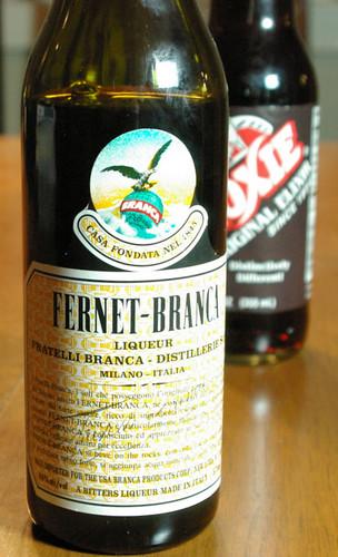 Fernet Branca and Moxie Original Elixir