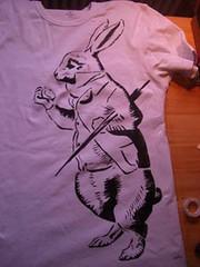 stencil alice wonderland Alice In Wonderland Rabbit Stencil