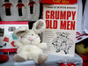 Grumpy Old Men - scene in a shop window! (TDR Photographic) Tags: charity old white men rabbit window shop toy book soft broadway cotswolds grumpy