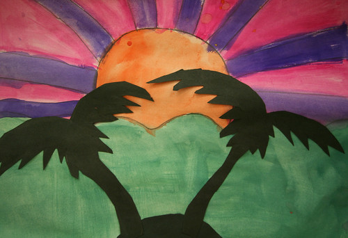 ShaKovian palm tree silhouette