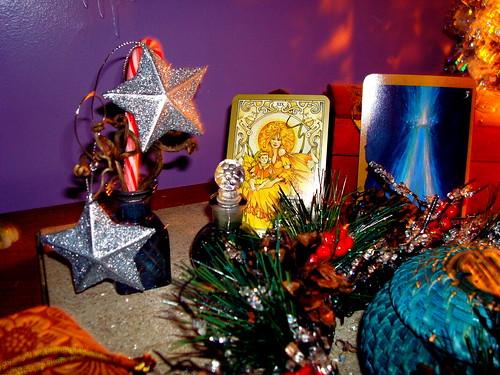 winter solstice faery altar
