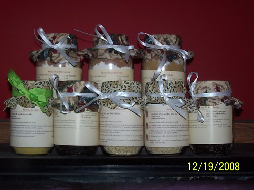 Jar cookie mixes