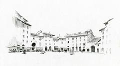 Piazza Anfiteatro - Lucca, Italia