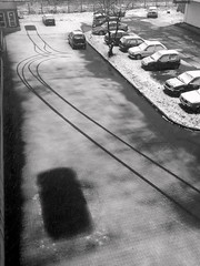 Dude, where is my car?! (Majchalak) Tags: winter bw snow car blackwhite invisible magic poland polska steal tychy damncool nokian80 blackwhitephotos withoutps youvsthebest blackwhiteaward majchalak thepinnaclehof