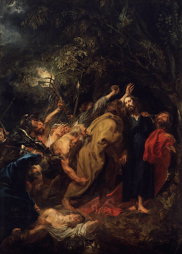 Anthony Van Dyck (Flemish, 1599-1641) The Capture of Christ or Judas Kiss (c. 1618-1620) Oil on canvas. 344 cm x 249 cm. Prado Museum, Madrid.