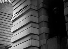 Sentinels and Porticals 3 (MichaelEClarke) Tags: shadow blackandwhite bw london stone dark temple ominous threatening portentous aliens southbank cc creativecommons blocks gloom lamps watchmen glc countyhall martians monolithic marriothotel 123bw blocksofstone