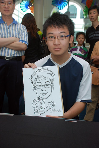 Caricature live sketching at Singapore Art Museum Christmas Open House - 8