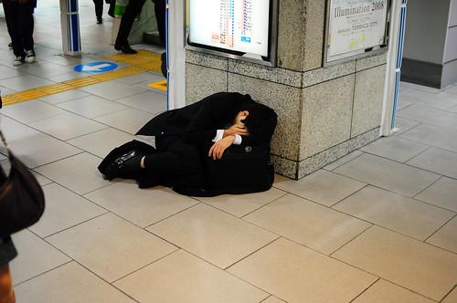 japoneses. Japoneses durmiendo 4