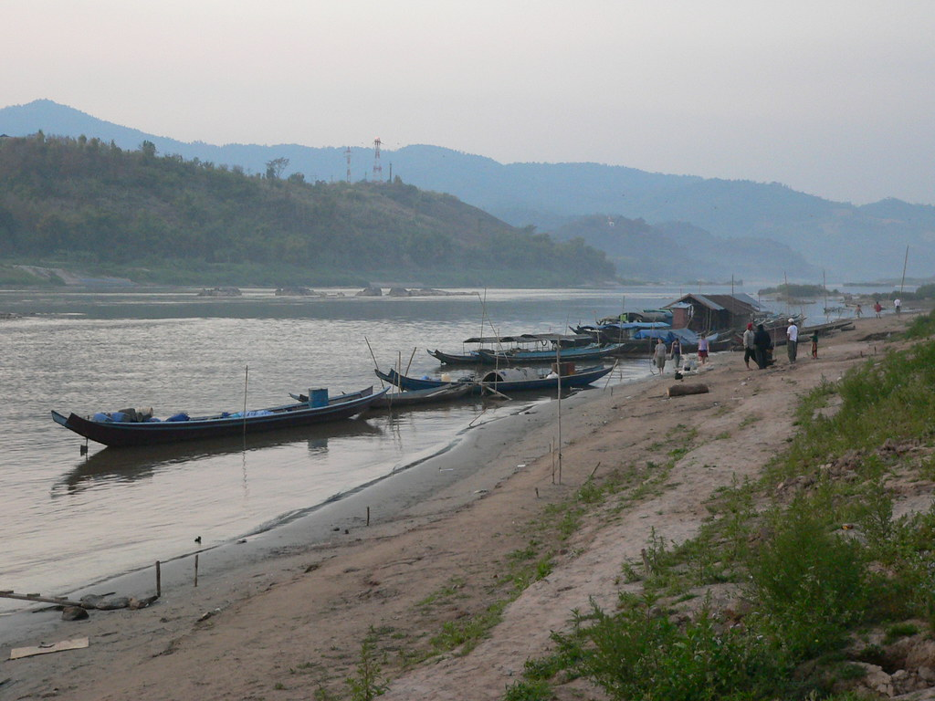 Mekong river at dawn