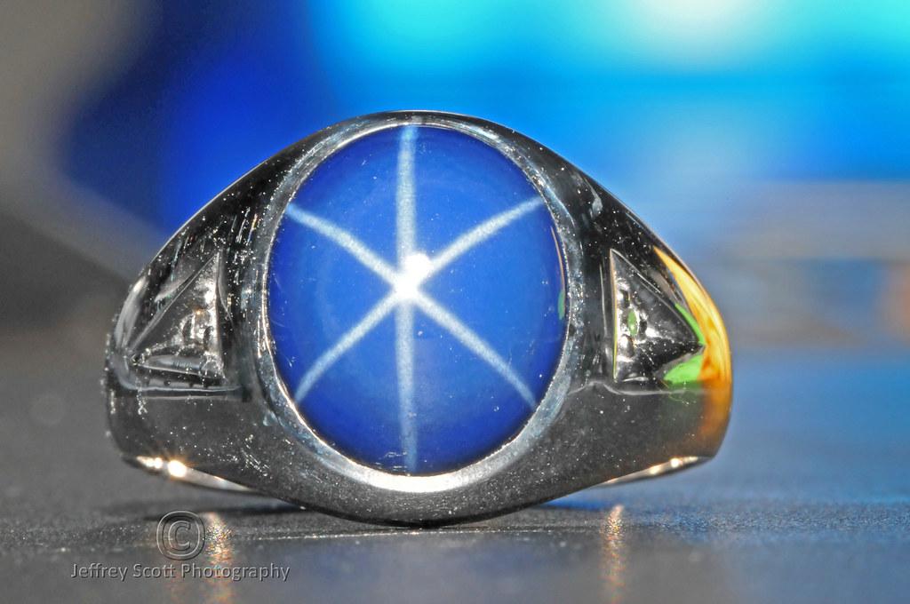 Blue Star Sapphire Ring from St. Thomas, U.S. Virgin Islands
