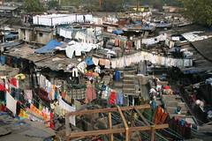 ムンバイの屋外洗濯場