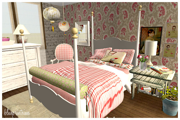 blueprint sims lawn gnome bedroom