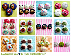handpressed fabric buttons