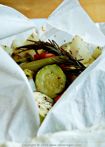 Vegetables Baked in Parchment