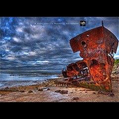 Rust In Peace ([ Rodelicious ]) Tags: ocean trip travel blue light sea vacation sky sun seascape color colour art beach nature beautiful beauty clouds contrast photoshop sunrise canon landscape geotagged photography photo interestingness exposure dof photos australia brisbane explore queensland pk canoneos hdr highdynamicrange hdri flickrmeetup blending waterscape rodel panoramicview photomatix woodypoint brisbanemeetup explored tonemap gayundah canonxti colorphotoaward aplusphoto pinoykodakero canon40d colourartaward perfectescapes pkchallenge rodelicious ifolio garbongbisaya rodeljoselitomanabat