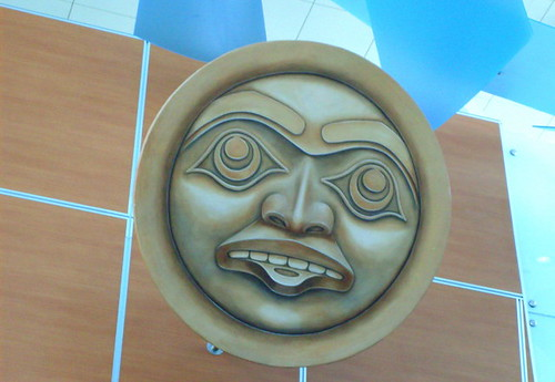 Four Host First Nations (FHFN) artwork at the YVR International airport domestic terminal