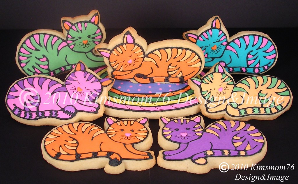 Striped Cat Cookies