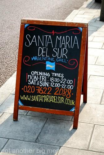 Santa Maria del Sur, Clapham - Sign board