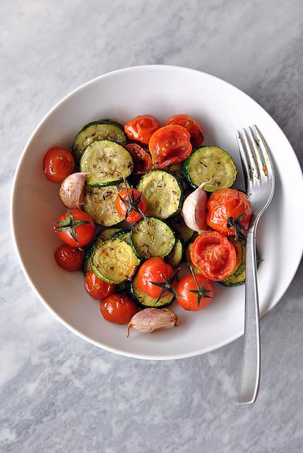 Zucchine e pomodorini confit