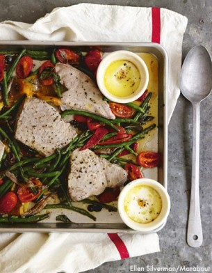 2 Gwyneth Paltrow via Daily Mail Hot Nicoise Tuna Fish Green Bean Roasted Vege Salad