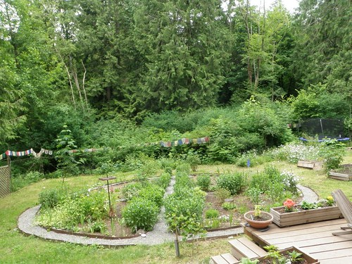 medicine wheel garden from west deck