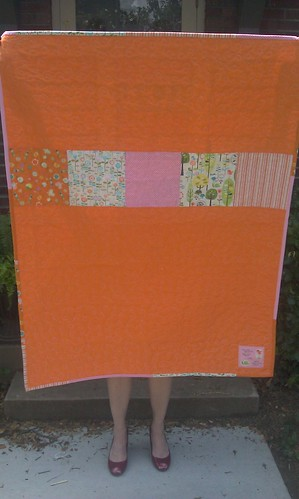 baby quilt back by valerie-in-wonderland