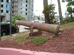 Spanish Cannon (ajmexico) Tags: old history geotagged downtown florida rusty melbourne historic artillery sunken naval brevard salvaged strawberrymansion